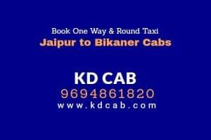 Jaipur to bikaner cabs